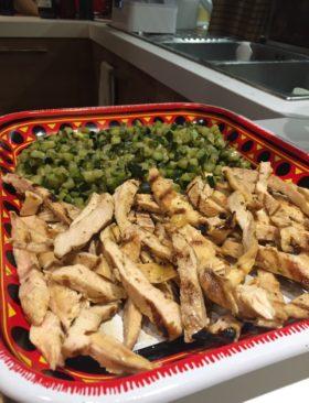Fajitas di pollo alla messicana fatte in casa
