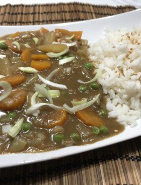 Riso al curry giapponese ricetta vegetariana