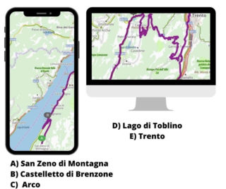 Itinerario moto Garda fino a Trento