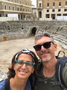 Teatro romano. Visita alla citta' di Lecce.