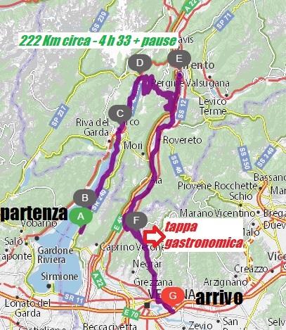 Itinerario in moto Lago di Garda