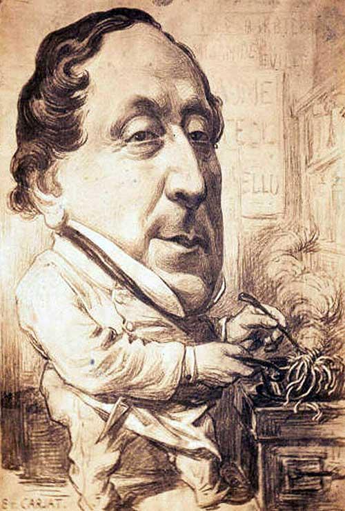 Gioacchino Rossini in cucina