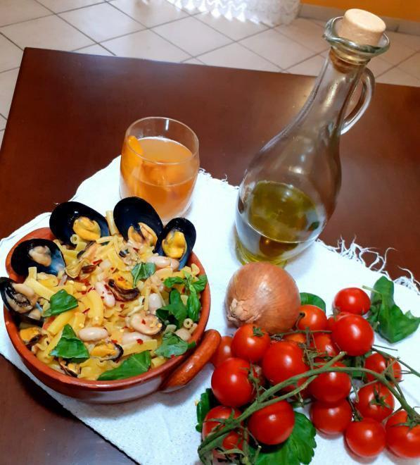 cucina campana pasta fagioli e cozze