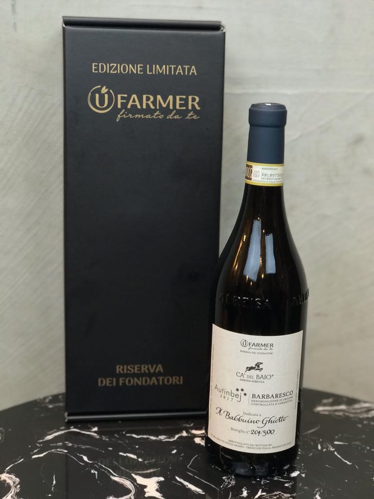 UFarmer - Bottiglia riserva dei fondatori - Adotta un vigneto