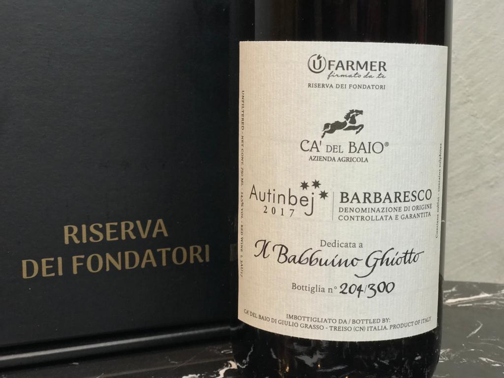 Adotta un vigneto - Bottiglia personalizzata - Babbuino Ghiotto