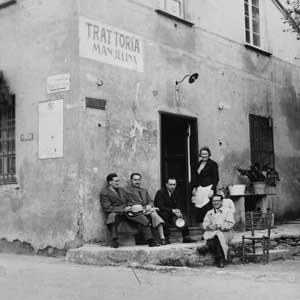 trattoria Manuelina negli anni 30' del XX secolo