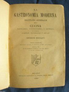 La gastronomia moderna di Giuseppe Sorbiatti