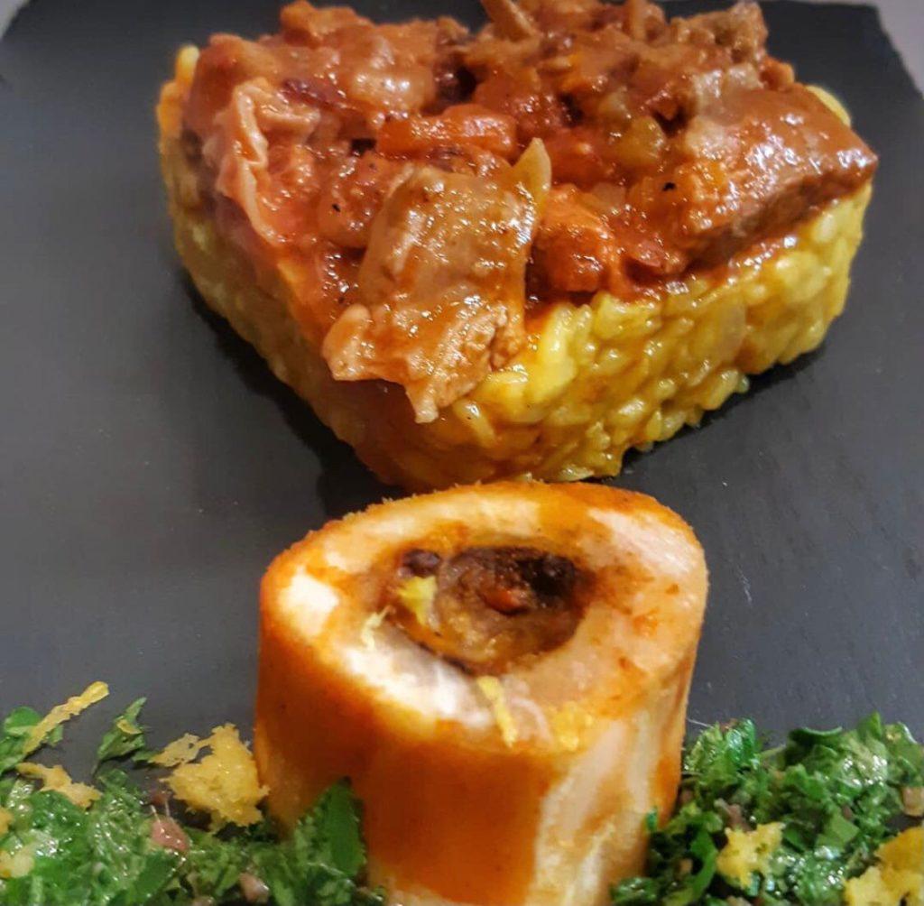 Ossobuco alla milanese con risotto