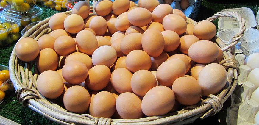 uova per la realizzazione della frittata di Montaquila